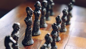 Chess board illustrating strategic project management