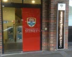 University CCE door